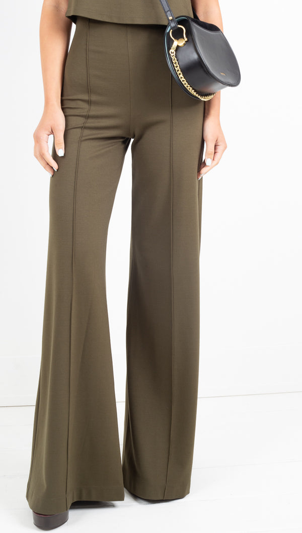 Ripley Rader olive high waisted wide flare pants