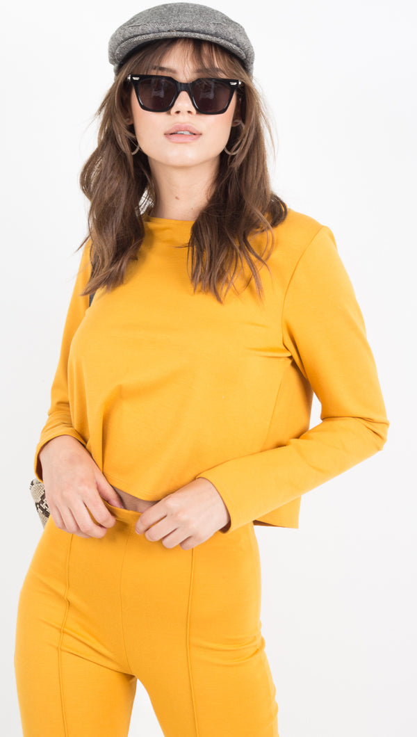 Long Sleeve Shirt - Mustard