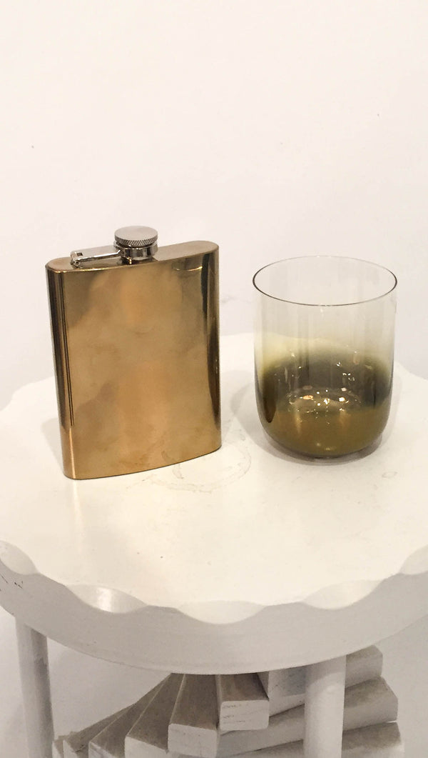 roost Large Brass Flask