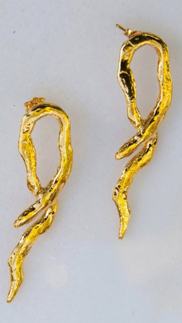Rosalie Jade Jewelry Gold Plated Serpent Earrings