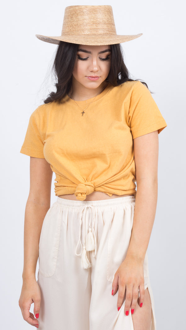 Rusty Yellow Crew Neck Tee
