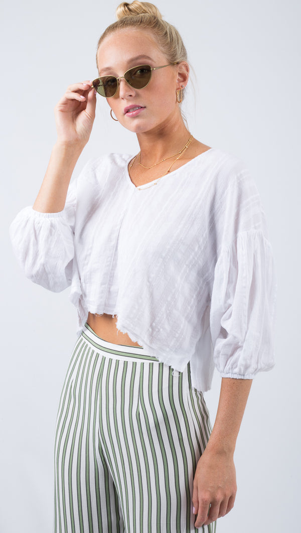Marisa Beach Shirt - White