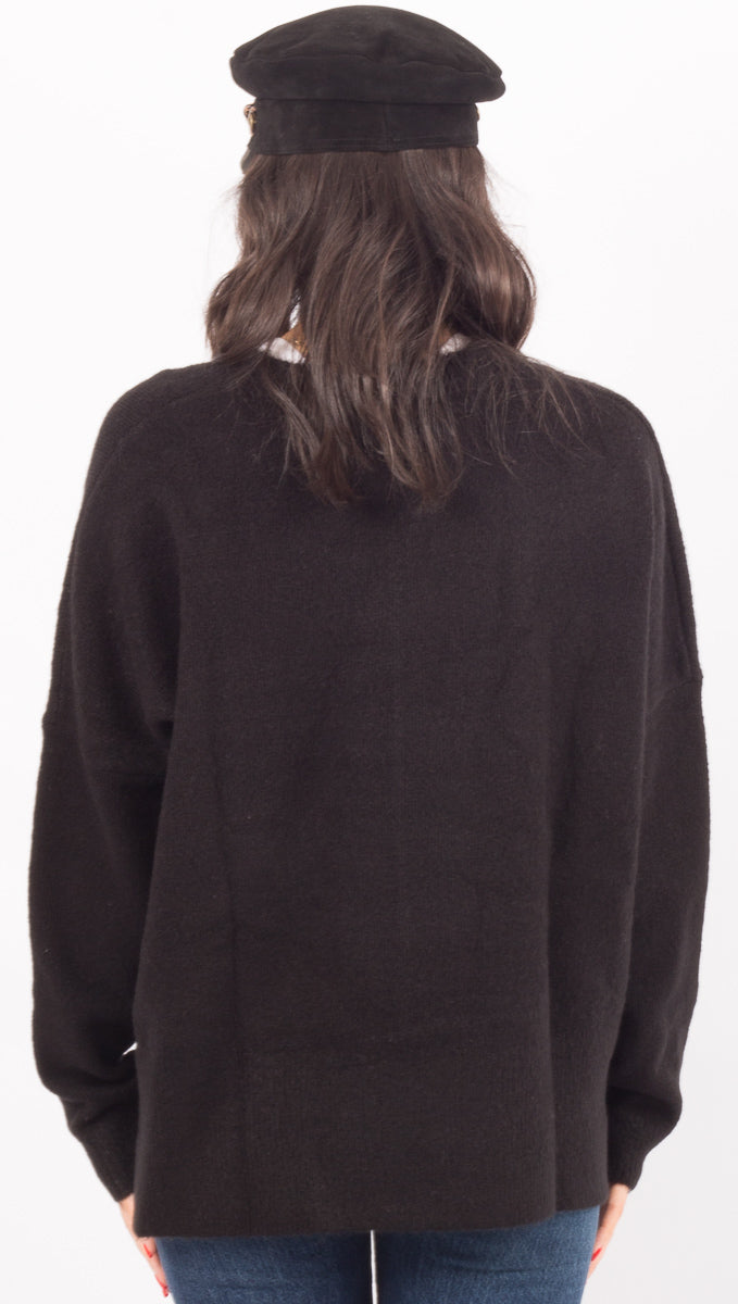 Primary Crew Neck Knit - Black