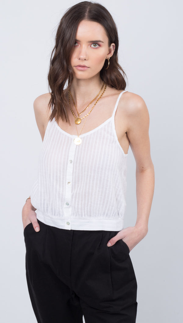 Sabrina Beach Cami - White