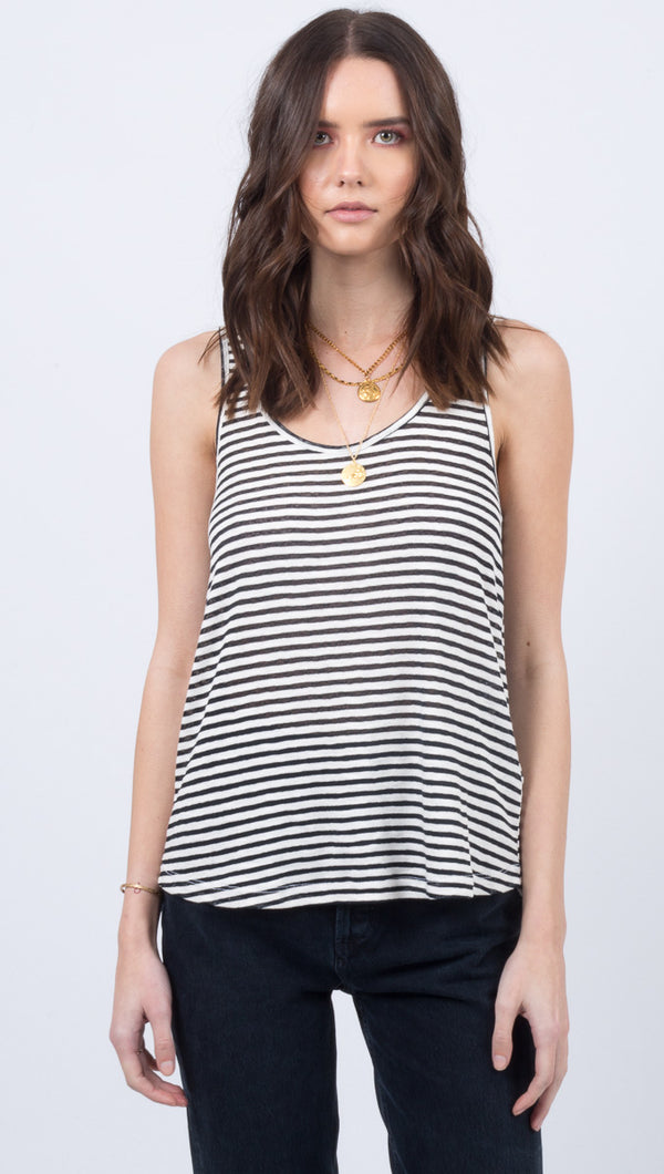 Soda Stripe Tank - Black