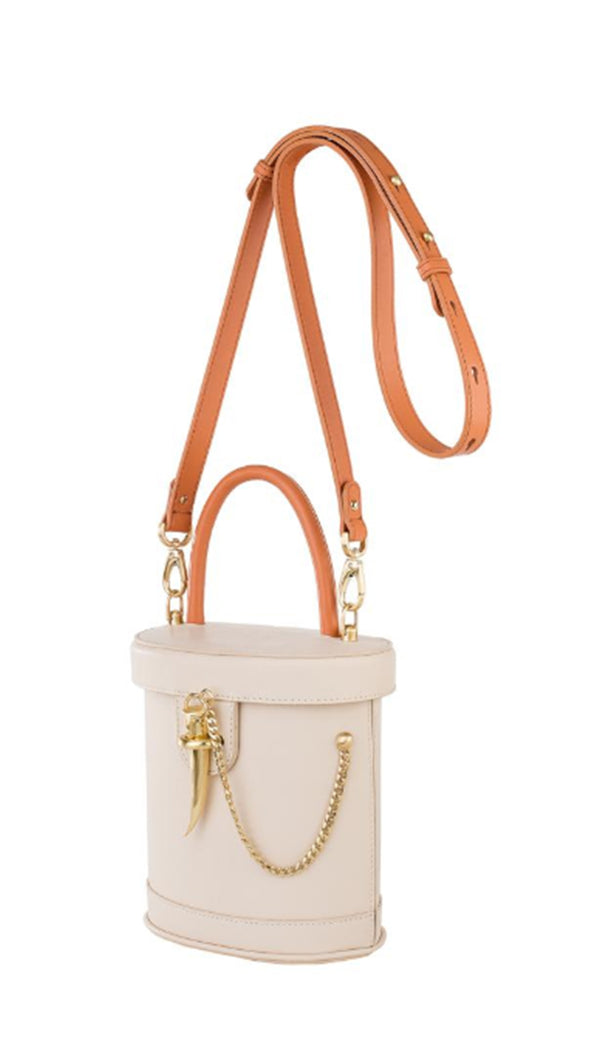 The Camilo Mini Bucket Bag - Ecru