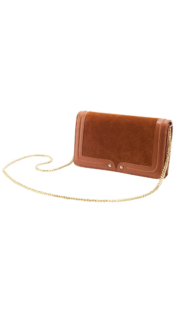 Sancia Brown Leather and Suede Crossbody Bag