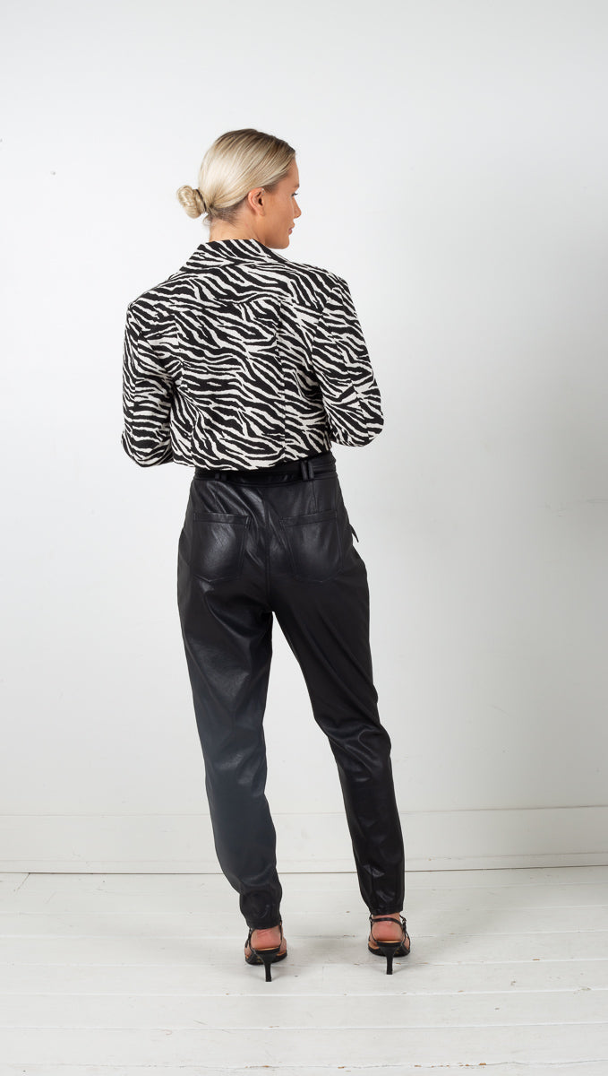 Josie Cropped Jacket - Zebra