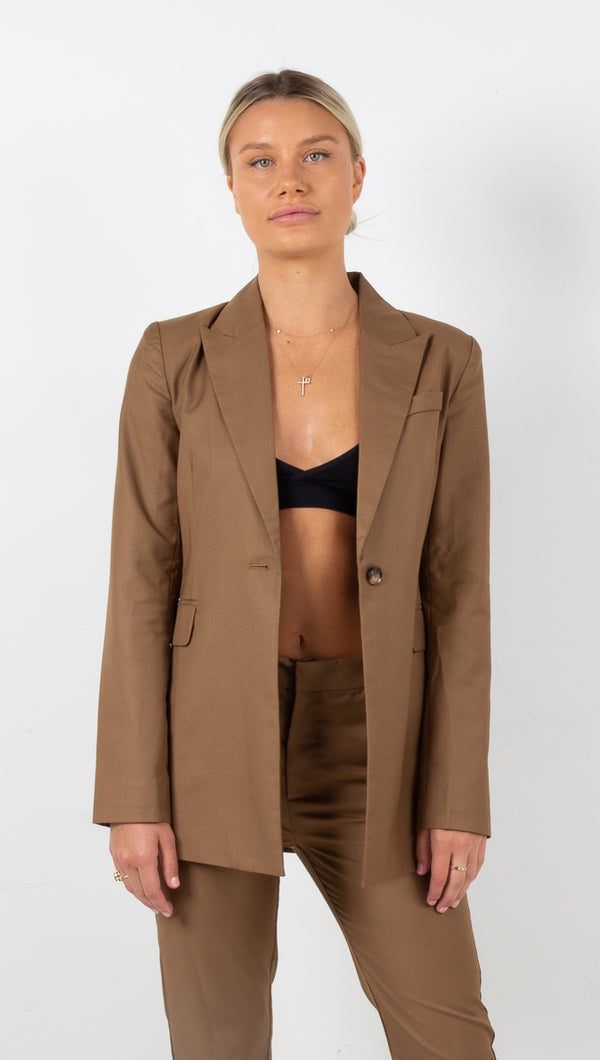 Formalities Suit Jacket - Camel