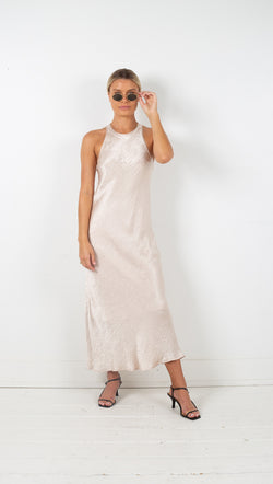 Third Form river bed bias maxi tank dress sand