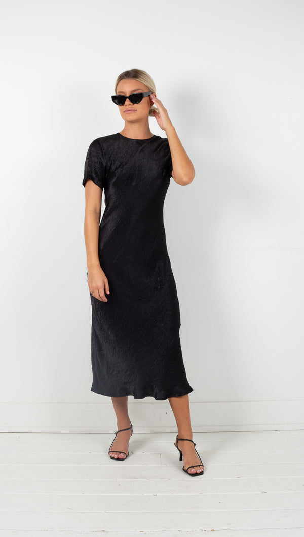third form river bed bias midi tee dress