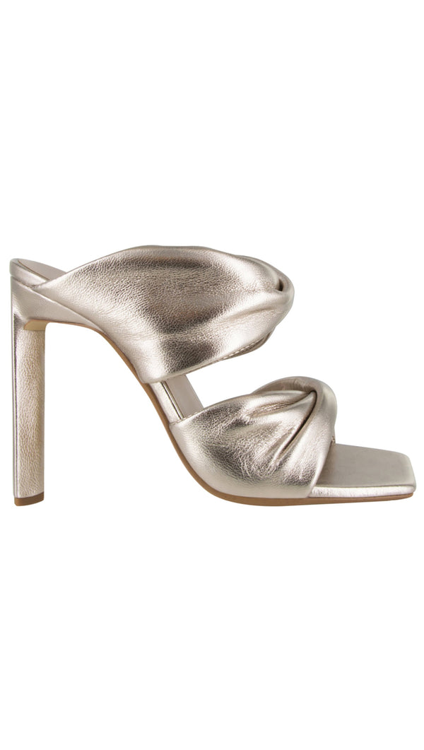 Senso Silver Metallic Open Toe High Heel Sandal