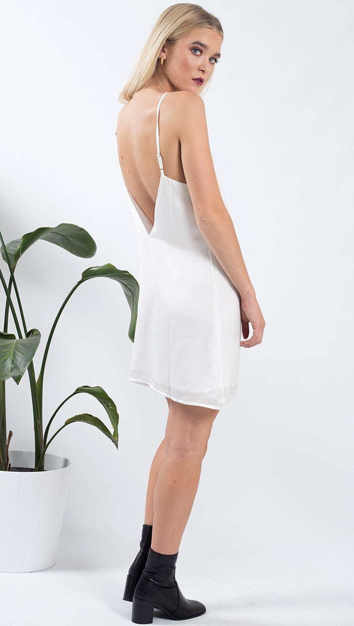 sienna slip dress - white