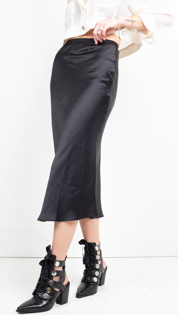 Staple Silky Skirt - Black