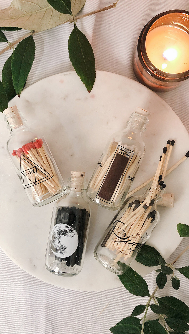 Mini Apothecary Match Bottle - Poetry