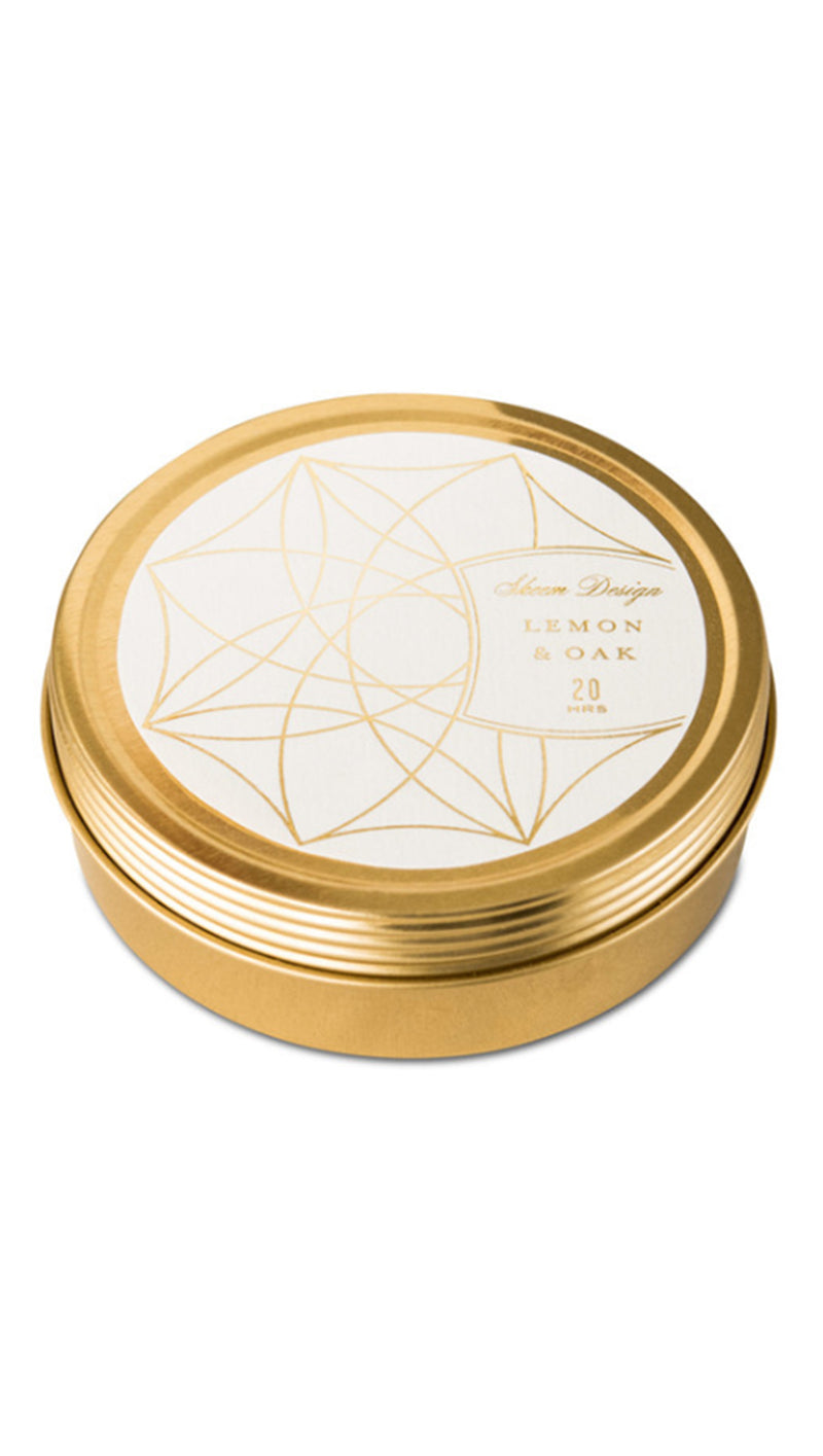 Skeem Design Lemon And Oak Tin Candle