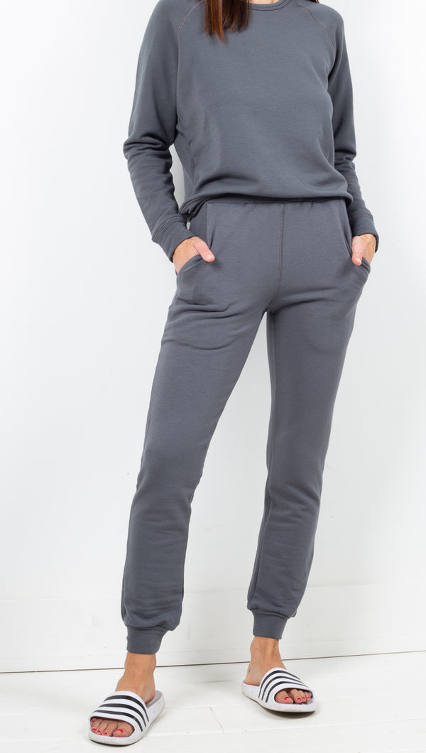 Softwear Charcoal Grey Soft High Rise Fleece Joggers