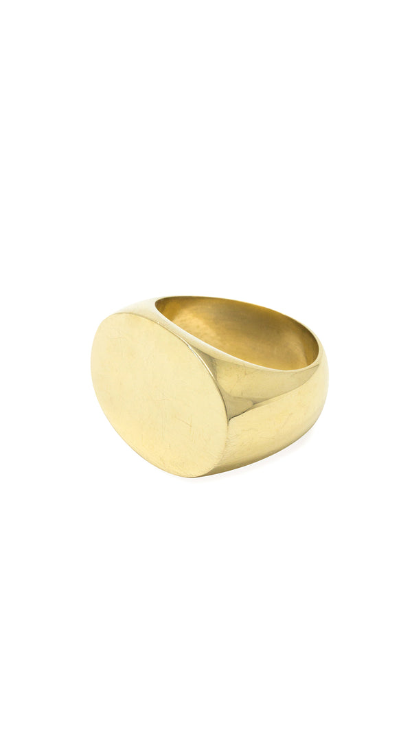 Soko Brass Signet Ring
