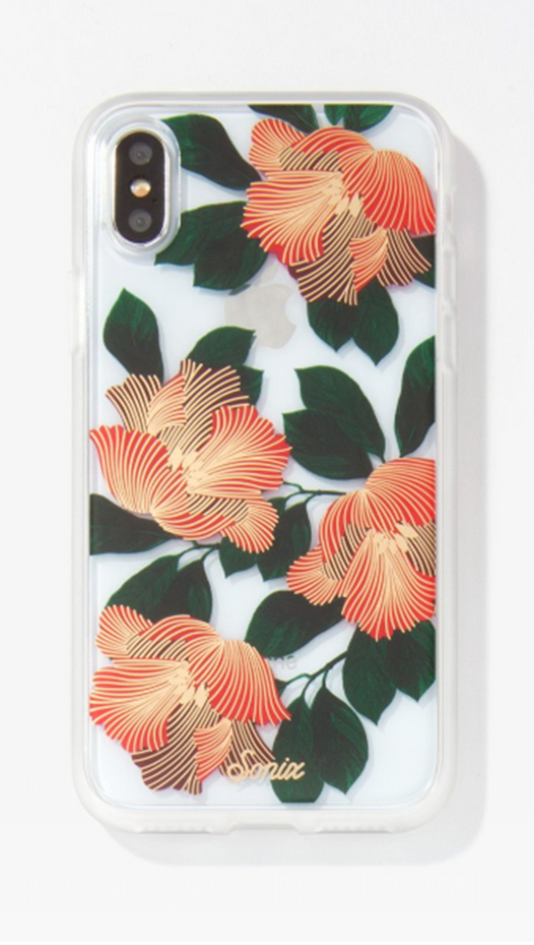 Red Floral Print iPhone Case