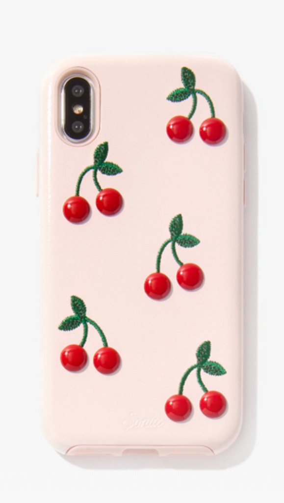 Pink Cherry Stud iPhone Case