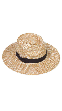 The Spencer Fedora - Natural Straw/Black