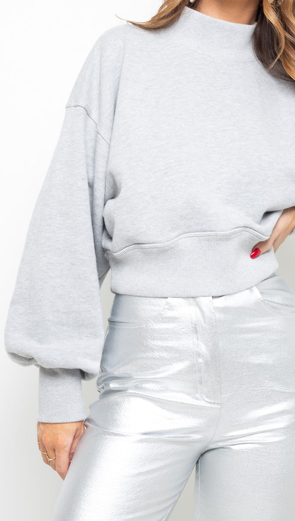 Spiritual Gangster Grey Cropped Sweater