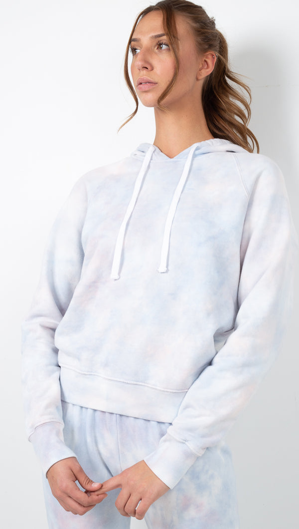 Love Is Classic Raglan Hoodie - Cloud Tie Dye