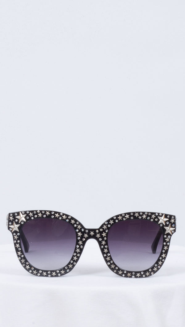 Van De Vort Oversized Star Embellished Frame Sunglasses