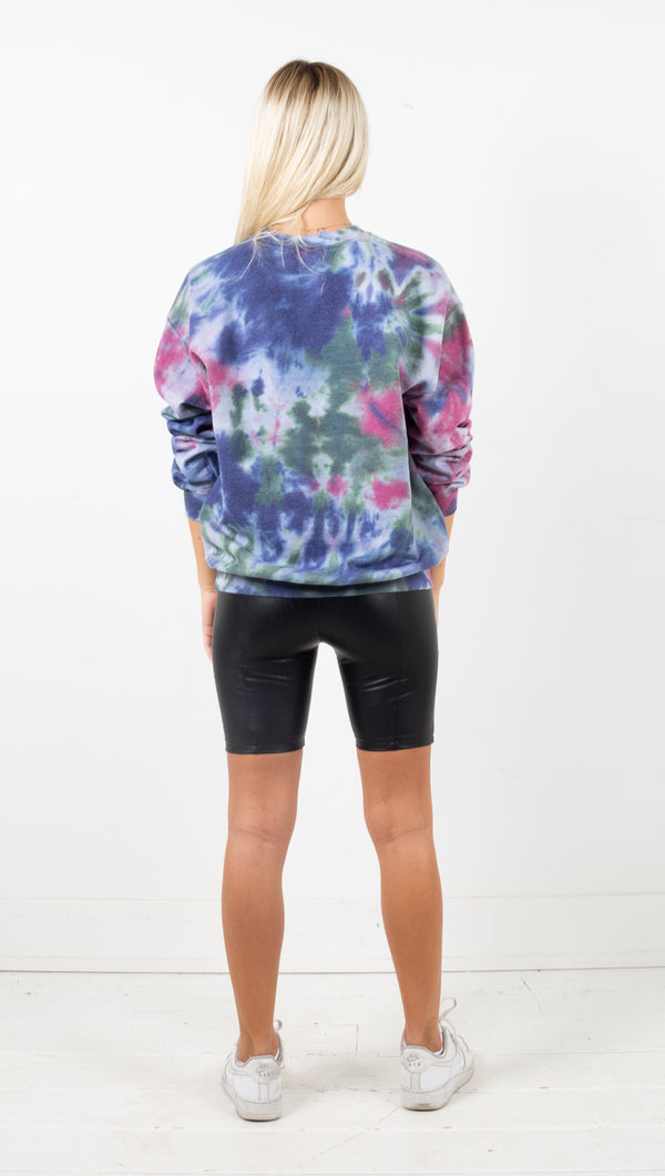 Love Will Not Be Cancelled Sweatshirt - Jewel Tone Tie Dye