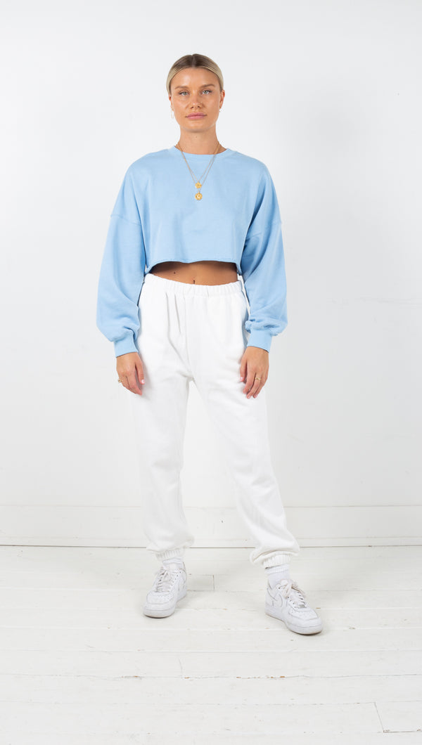 Catalina Crop Sweatshirt - Sky