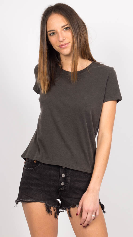 The Baby Tee - Modal Wash Black