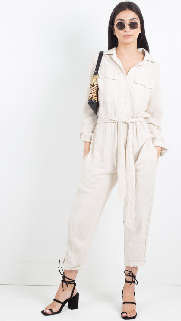 The Luna Jumpsuit - Natural