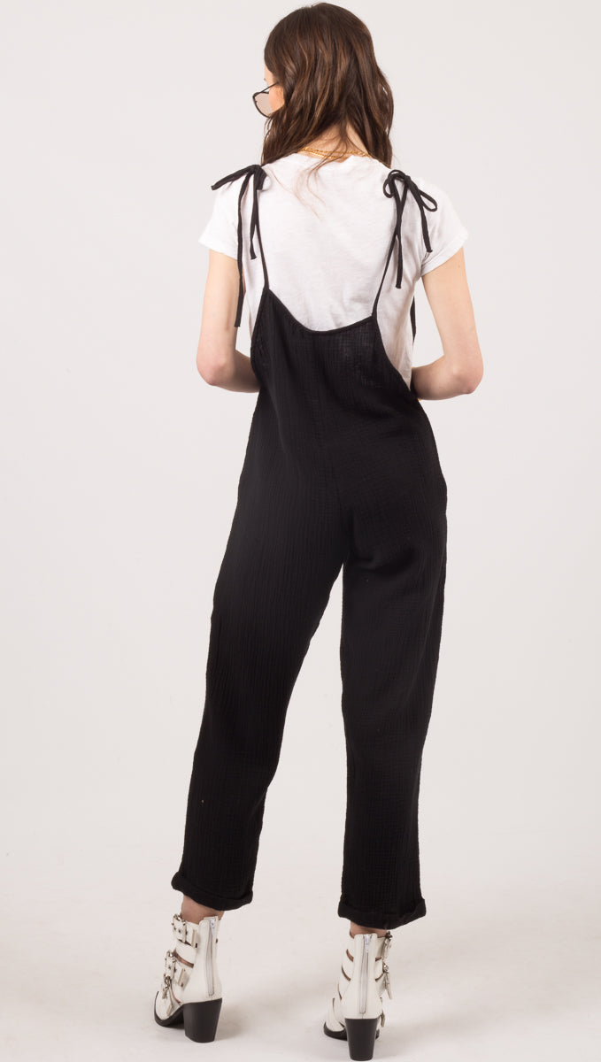 Some Beachy Overalls - Black