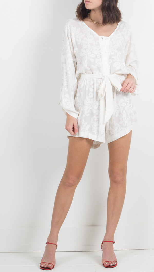 Cote D' Azure Romper - Cloud Nine