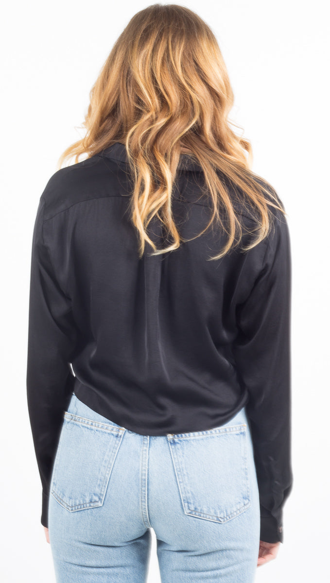 The Crop Favorite Shirt - Black
