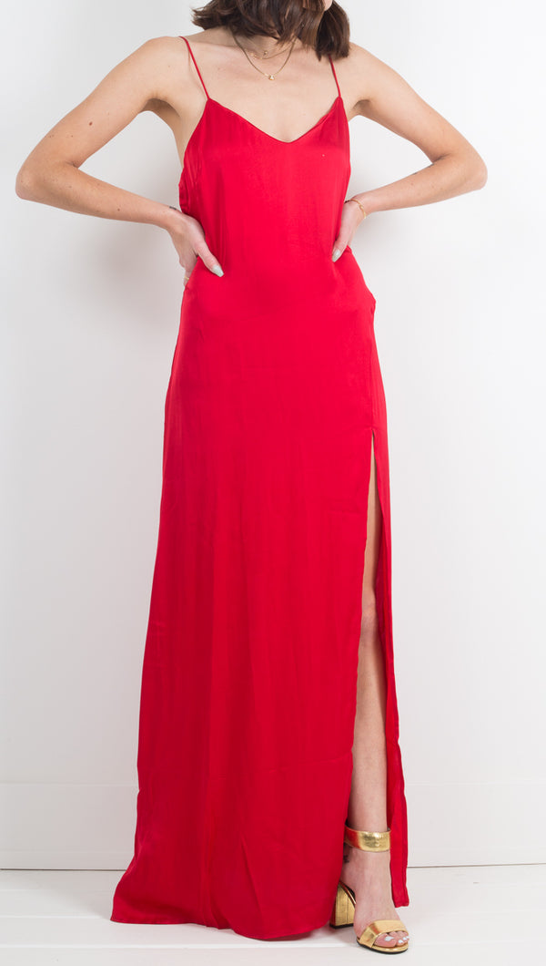 Ever Thine Maxi Slip - Lucky Red