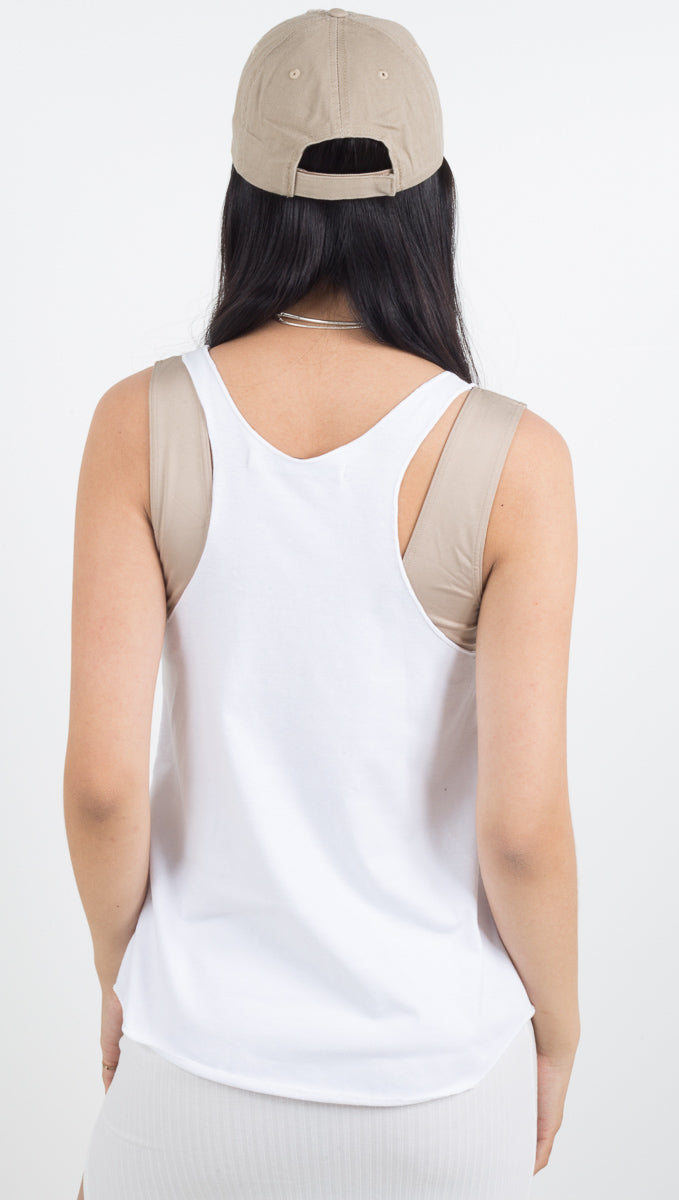 On Repeat Tank - White