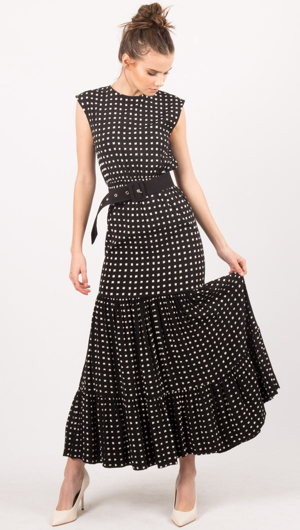 SWF Black Pattern Gown