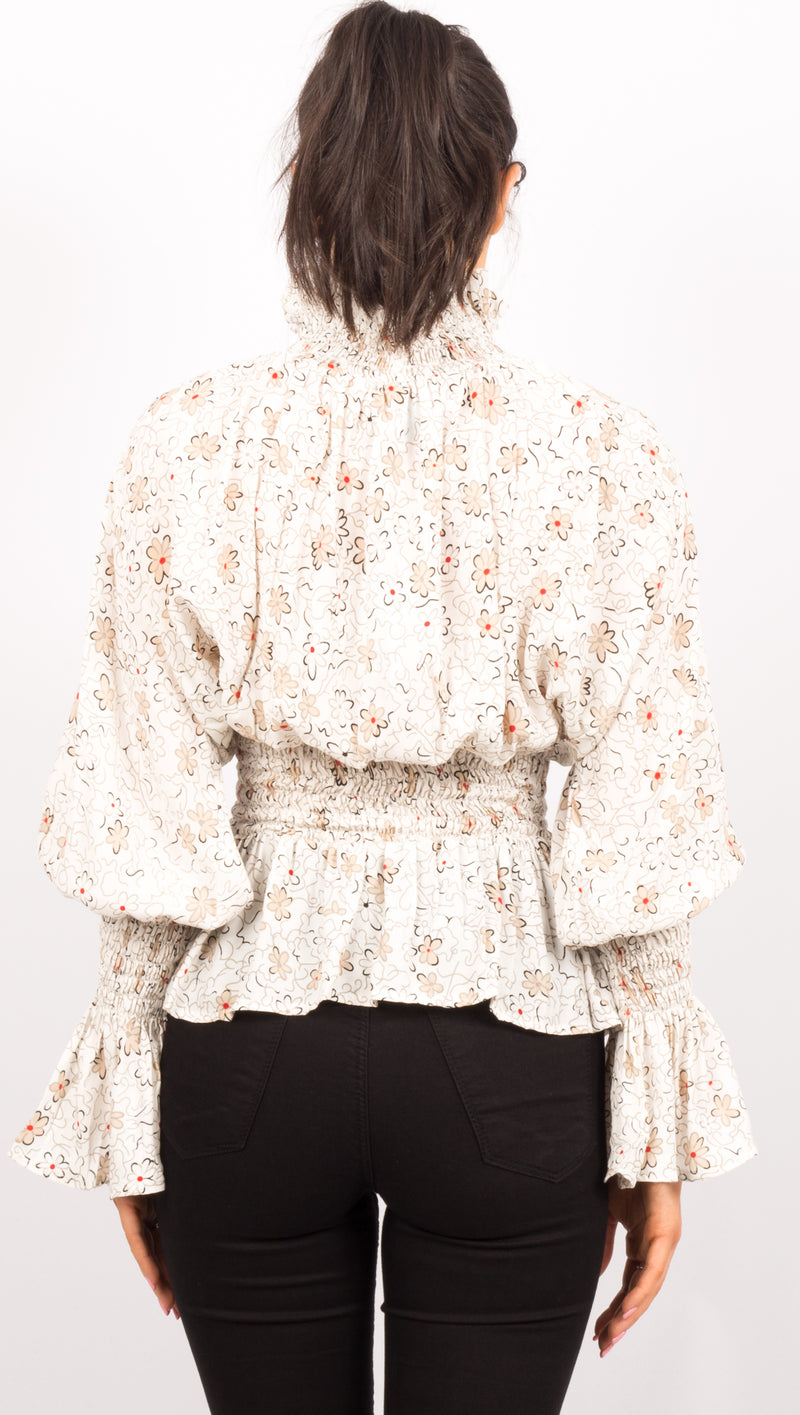 Leyla Top - Soft Floral