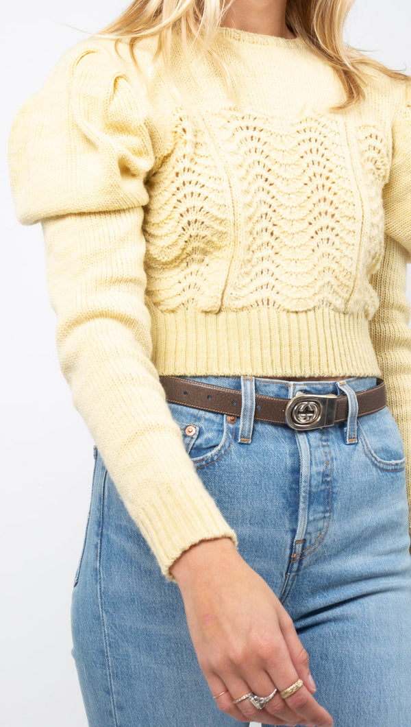 Begonia Sweater - Yellow