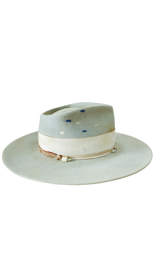 Teressa Foglia Vintage Inspired Light Blue Fedora