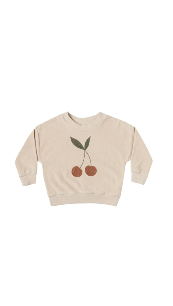 Terry Crewneck Cherry - Shell