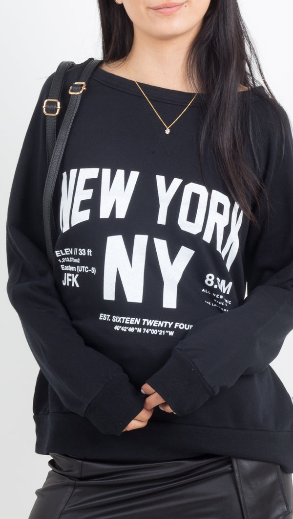 The Laundry Room New York Long Sleeve Cozy Pullover