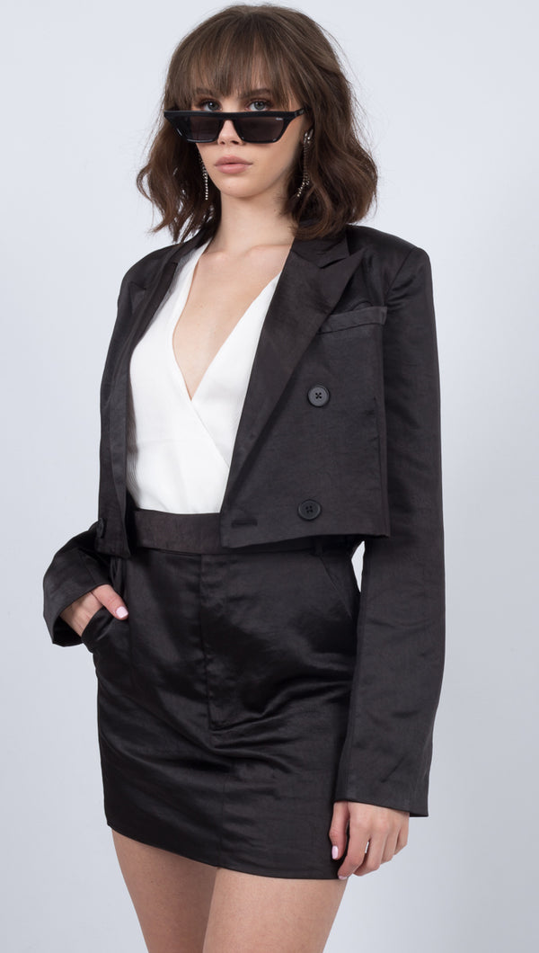 Third Form Black Cropped Blazer