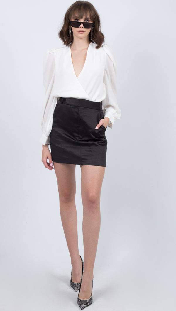 Boss Tailored Mini Skirt - Black