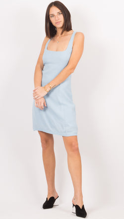 Third Form Light Blue Mini Dress