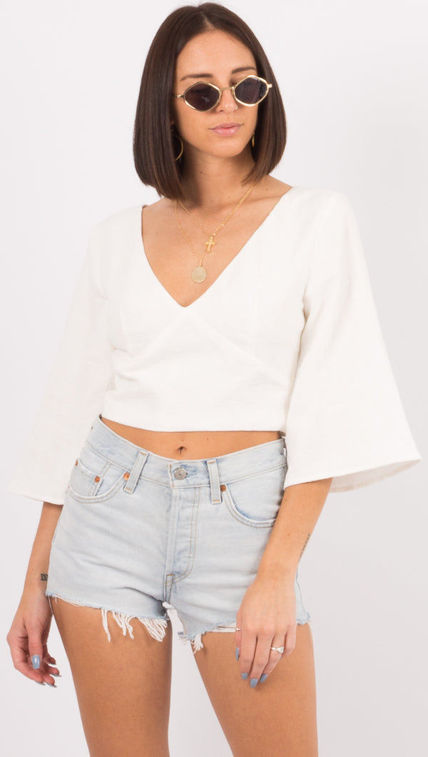 Third Form Ivory Linen Blouse