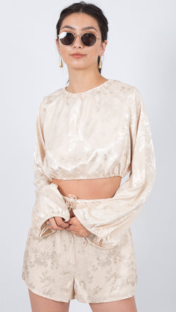 The Oriental Draw In Blouse - Cream