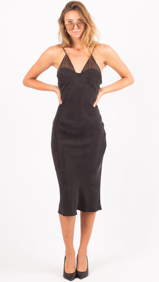 Third Form Black Midi Dress