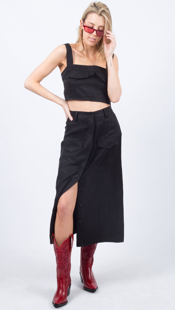 Trucker Skirt - Black